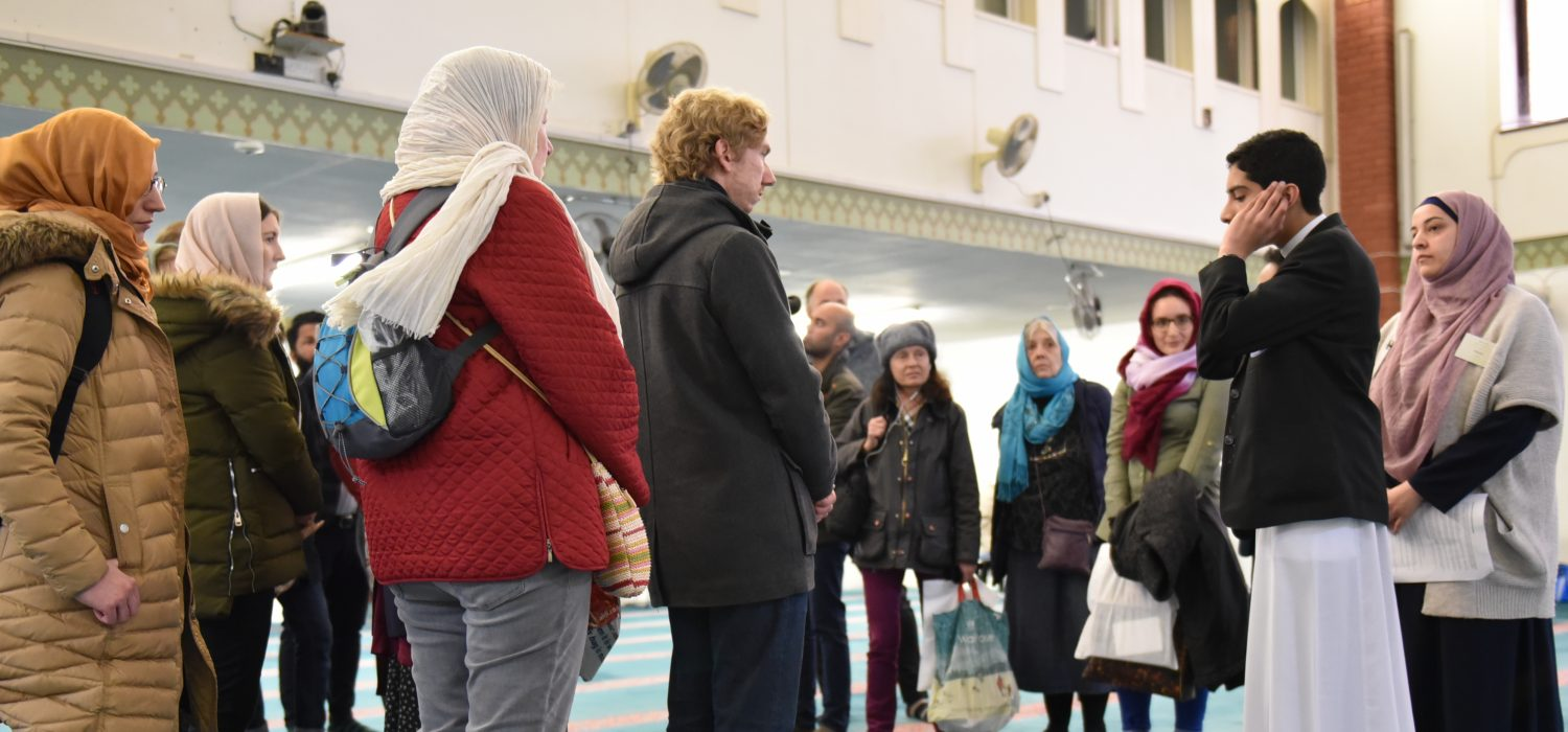 People visiting Mosque
